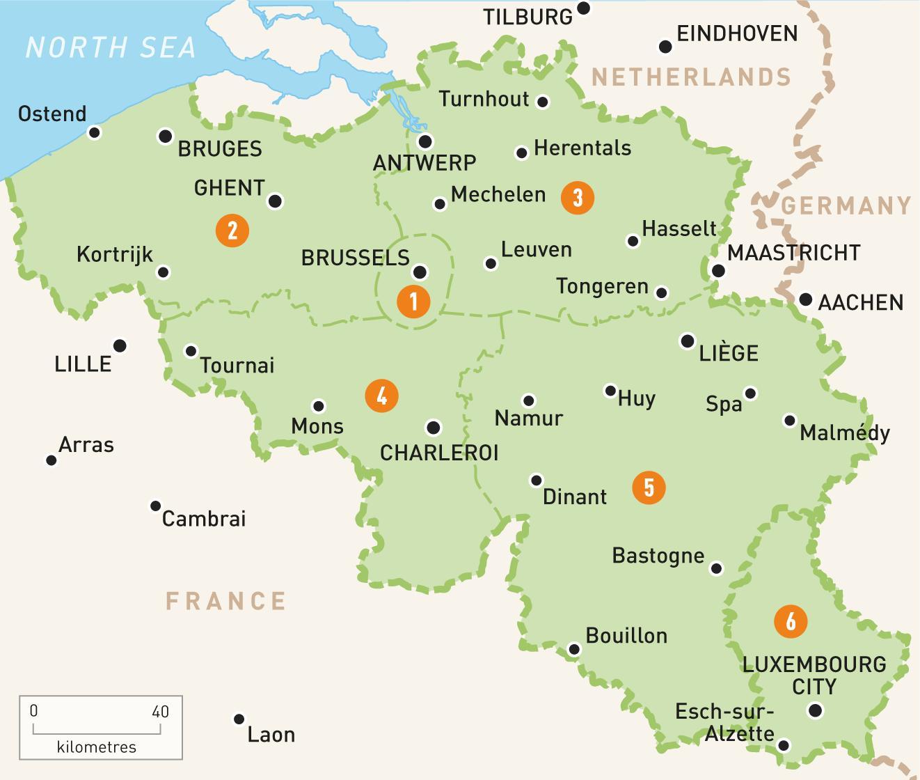 Bryssel Karta Karta 2020